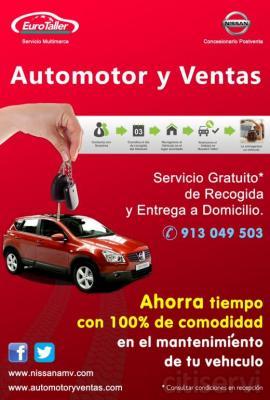 Te recogemos el coche en tu casa o trabajo y te lo devolvemos despues de la reparación totalmente gratis.