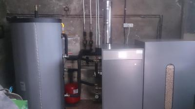 Sustituye tu caldera de gasoil y cámbiate ya a la calefacción económica.  Ahorra más de un 50% de lo que gastas en gasoil.  Caldera de pellet de 15 kW (*) + depósito de pellet de 350 kgs totalmente instalados con un 10% de descuento por 108 € al me