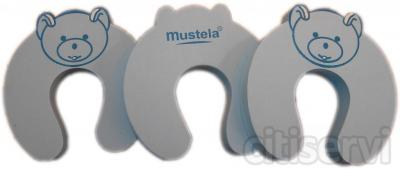 Tres estupendos topes para puertas Mustela, por la compra de 50 euros en productos Mustela te regalamos  los topes tienen un valor de 12 euros.