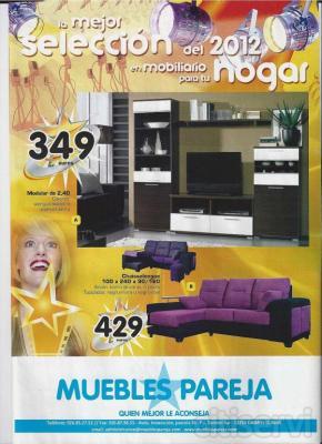 La mejor selección de muebles para tu hogar y los mejores precios. No te los pierdas. Descarga nuestro catálogo en http://www.mueblespareja.com y http://www.facebook.com/MueblesPareja