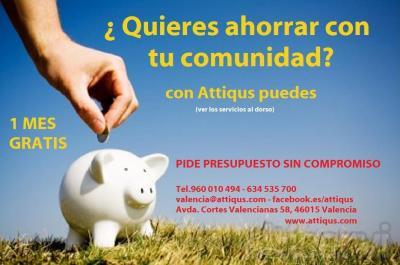 Para que pueda comprobar la forma de trabajar de Attiqus, ningún vecino pagará ni un sólo céntimo en los honorarios de administración de su comunidad durante un mes.