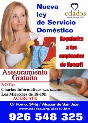 En Edades Alcázar te damos asesoramiento gratuito par que regularices a tu empleada de hogar