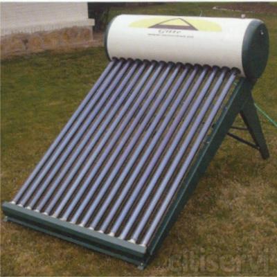 Panel solar de 24 tubos de vacío, 25o litros ACS