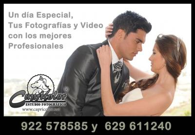 Tu reportaje de boda en Iglesia o civil completo con album digital personalizado por tan solo 500€  Ven a Capricolor Estudio fotográfico e infórmate.