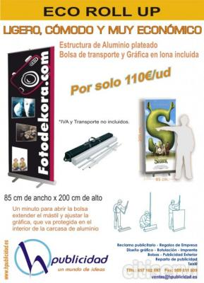 ROLL UP CON GRAFICA Y BOLSA INCLUIDA POR SOLO 110€