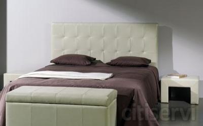 Super Oferta Dormitorio  - Cabezal de Piel - 2 Mesitas de Piel - Somier - Colchón de Viscoelástica JUNIOR ALOE + Almohada de Regalo TODO POR: 495€