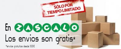 Portes gratis en pedidos a partir de 500€.
