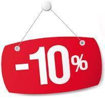 10% de descuento en todos nuestros productos