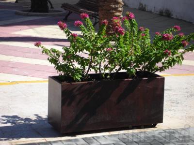 Jardineras acero corten personalizadas a cualquier tipo de cliente