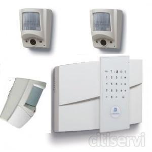 Protección para Vivienda / Local    2 Detectores con Videovigilancia   1 Detector de Movimiento   Panel / Transmisor GPRS / Teclado / Sirena