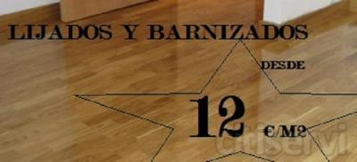 LIJADO Y BARNIZADO PROFESIONAL ALTA CALIDAD DESDE 12€/M2