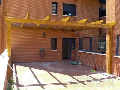 pergola de madera tratada de 1ª calidad 4 metros de largo por 3 metros de ancho material y colocacion por solo 960 euros