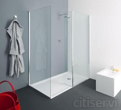 Cambie su bañera por plato de ducha desde 600€. La oferta incluye: albañilería y fontanería, picado, desescombrado, suministro y colocación de plato ducha EXTRAPLANO PORCELANICO de 72x90, alicatado y solado de la zona afectada en azulejo similar(i