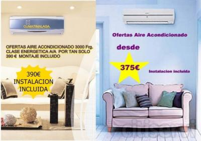 aire acondicionado 3500frg con bomba de calor clase energetica A/A 380€ instalacion incluida solo provincia de Malaga.