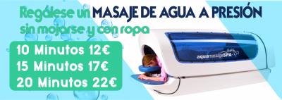 DESCUENTO DE 2 EUROS EN SESION DE MASAJE DE AGUA.