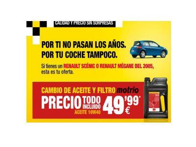 Pon tu coche a punto, apróvechate de esta oferta válida hasta el 30 de noviembre. Cambia el aceite y filtro de tu vehículo solo por 49,99 euros.