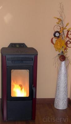 La calefacción del futuro esta aquí, te ofrecemos una estufa, preparada para funcionar y calentar viviendas o locales comerciales por muy poco dinero al mes.