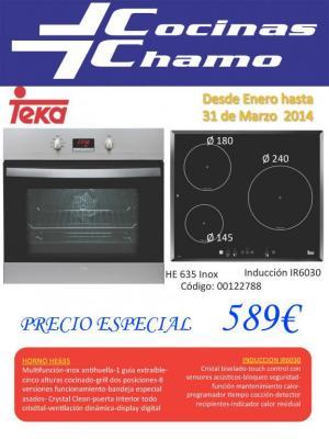 Conjunto Horno + Inducion por 589€