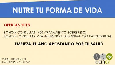 NUEVAS OFERTAS PARA EL 2018, APUESTA POR TU SALUD