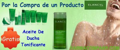 Por la compra de cualquier Producto de la Linea Elancyl, te regalamos el aceite de ducha tonificante Elancyl 200ml