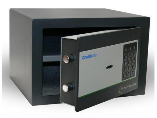Caja Fuerte de sobreponer -. Marca CHUBBSAFES - Cerradura de llave y teclado electrónico.