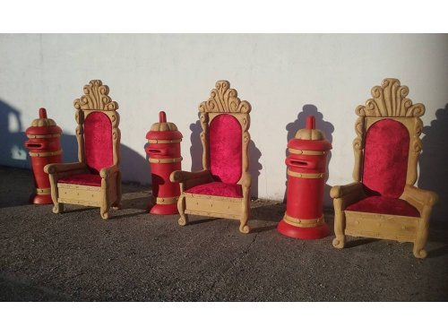 tronos navideños, Reyes Magos y Papa Noel