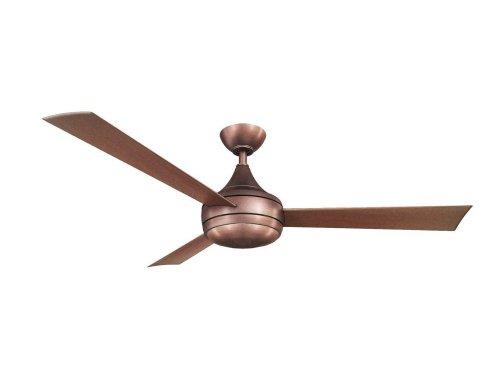 CASA BRUNO Donaire ventilador de techo con luz, bronce cepillado, para zonas mojadas