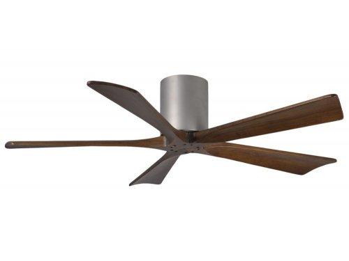 CASA BRUNO Irene Hugger DC-ventilador de techo Ø 132 cm, niquel satinado, 5 aspas de madera