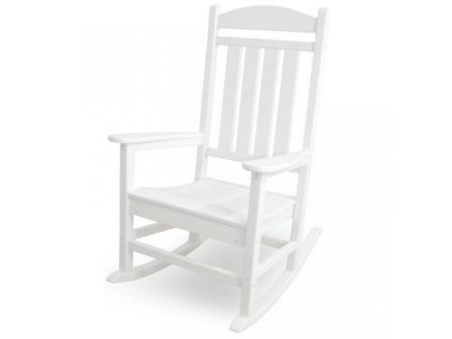 CASA BRUNO mecedora Classic Presidential, HDPE poly-madera, blanco