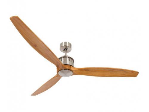 CASA BRUNO Akmani DC-ventilador de techo Ø 152 cm, cromo cepillado/teka