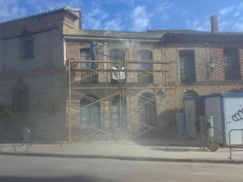 Limpieza de fachada por chorro de arena