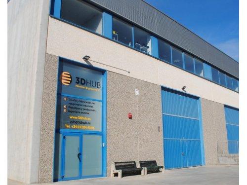 fachada lateral 3D Hub