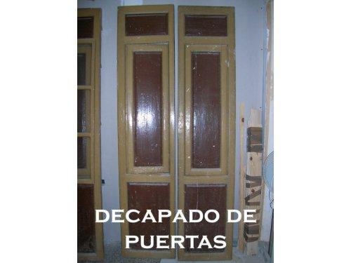 Decapado y adaptación de puertas antiguas.