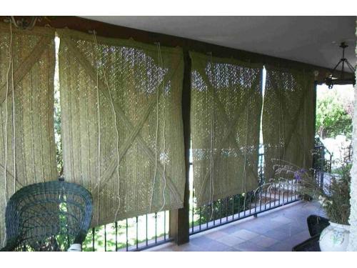 Persianas o cortinas de esparto