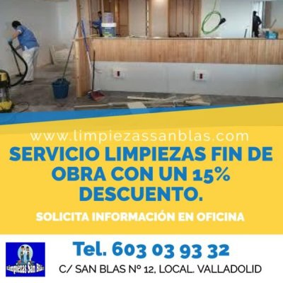 Aprovecha nuestro descuento en limpiezas fin de obra de pisos, casas, locales, comercios, oficinas.