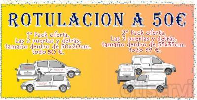 Solo 50 €, rotulacion vehículos en Barcelona.