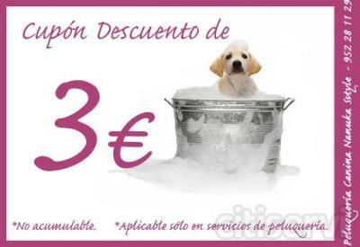 -3€ de descuento en cualquier servicio de peluquería.  No acumulable con otras ofertas.