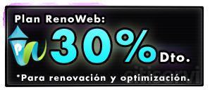 Si tienes una web que no funciona, no está actualiza o no la tienes optimizada para los buscadores de internet, renuevala con un 30% de descuento con mi plan renoweb.