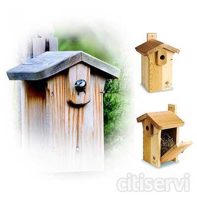 Cajas nido para aves silvestres