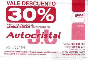 Descuento del 30% en lamina solar para todo tipo de vehiculod