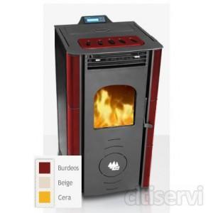 Estufa de pellets Ecoforest venus 7kw totalmente automatica y programable con termostato ambiente.