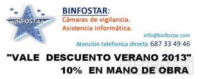Descuento solo por Citiservi del 10 % en mano de obra en todos los servicios ofrecidos por Binfostar
