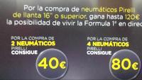 COMPRANDO 4 PIRELLI DE LLANTA 16O SUPERIOR 80€ DE REGALO