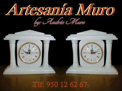 Presentamos nuestro mítico reloj de columnas by Andrés Muro.  Una verdadera joya realizada en mármol blanco de Macael.  Un diseño y calidad propio de la firma Artesanía Muro.  Sin duda una pieza única que ahora puede ser suya con el valor añadid