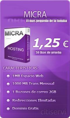 Pack Micra con sus dominios