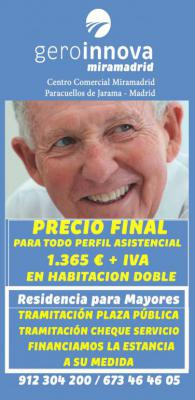 PRECIO FINAL 1365 € + IVA PARA TODO TIPO DE PERFIL ASISTENCIAL.