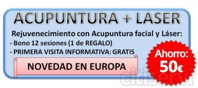 por el tratamiento de acupuntura facial + laser, te ofrecemos la primera visita informativa gratis.