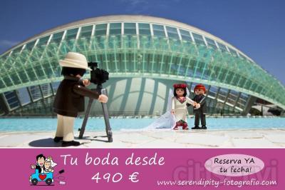Reportaje de boda completo con entrega de todas las fotografías en calidad alta por 490 €.  Más información en www.serendipity-fotografia.com
