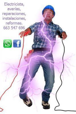 Electricista, averías, reparaciones, instalaciones, reformas, de todo tipo para particulares, comunidades y empresas. Apagones, cortocircuitos, fugas de corriente, etc... Te has quedado sin luz, llámame, respondo de inmediato. Se aceptan trueques o pago e