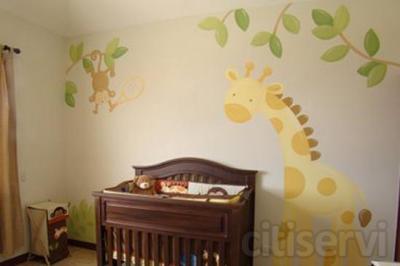 Si te pintamos tu piso ó casa ,te regalamos un mural infantil hecho a mano alzada.pintura decorativa iñigo realiza todo tipo de murales a mano alzada economicos y presupuestos sin compromiso,Para decorar las habitaciones de los reyes de la casa y estimu